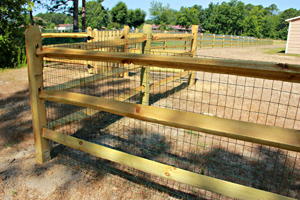 Wood Ranch 3 Rail Wth Square Picket Gate 8 Allison Fence