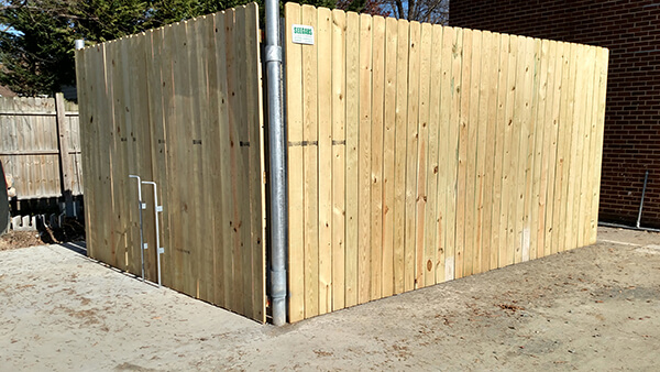 Dumpster Enclosures Allison Fence Company